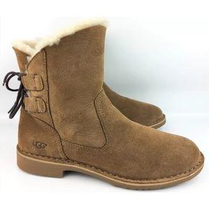 *Repaired* UGG Naiyah Sheepskin Lace Back Boots